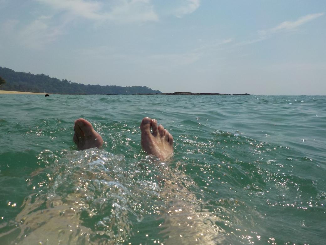 Baden in der Andamanen-See